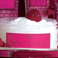 Raspberry Buttercream Frosting Body Butter (KRBB386) by Jaqua Bath and Body Jaqua Bath and Body