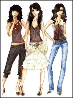 Pretty fashion design photo