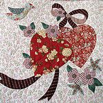 Vintage Valentine block made by Janet Beyea by Janet BA