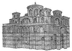 Istanbul, Theotokos of Lips (Fenari Isa Cami), reconstruction view
