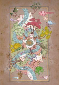Persian Motifs, Turkish Art, Arabic Art, Botanical Flowers, Elements Of Design, Painting Patterns, Geometric Designs, Islamic Art, Indian Art