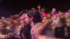 Scott and Seth singing down the aisle at Shaky Knees 5/9/15