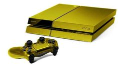 Gold #playstation 4 console