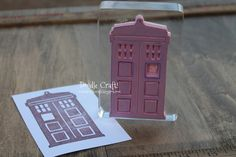 Custom DIY Rubber Stamps!  My Tardis! Make your own rubber stamp with an x-acto knife!