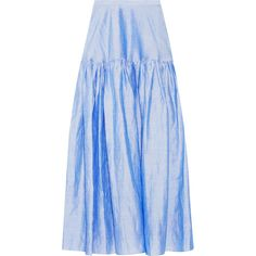 Co Ramie-blend maxi skirt ($170) ❤ liked on Polyvore featuring skirts, light blue, floor length skirt, bohemian maxi skirts, light blue skirt, bohemian skirts and long skirts