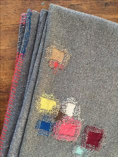 Risultati immagini per tom of holland visible mending :: thread color matching patch color, surrounding stitches make a halo effect. Embroidery Stitches, Hand Embroidery, Knitting Stitches, Simple Embroidery, Embroidery Ideas, Boro Stitching, Visible Mending, Make Do And Mend, Japanese Textiles