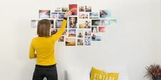 Decoration with memories: 11 ideas that you use to make photo collage yourself Photo Collage Board, Collage Foto, Photo Collages, Make Photo, Diy Photo, Polaroid Collage, Inspirational Wall Art, Photography Tutorials, Decoration