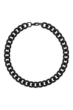 Topshop Black Chunky Chain Necklace