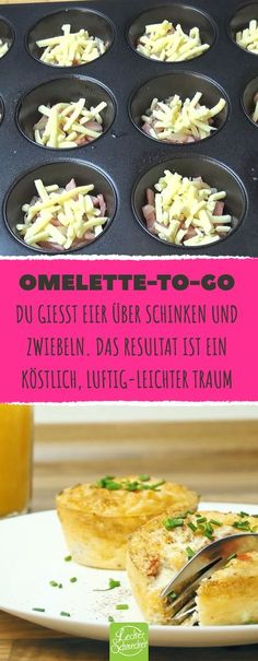 Auch als Partysnack auf Kindergeburtstagen sind diese herzhaften Mini-Omelettes … Even as a party snack on children's birthday parties, these hearty mini-omelettes are the ultimate hitters. Omelette Muffins, Brunch Recipes, Breakfast Recipes, Snack Recipes, Mini Omelettes, Homemade Sauerkraut, Healthy Sauces, Snacks Für Party, Great Appetizers