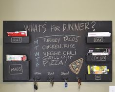Chalkboard Mail Organizer - Click image to find more Home Decor Pinterest pins