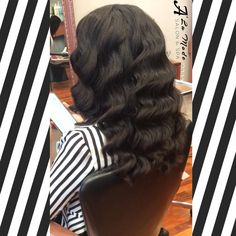 Looked breathtaking with her 1920's finger waves, bringing the vintage elegance back!!1⃣9⃣2⃣0⃣ #breathtaking #beautiful #hairdo #long #longhair #fingerwaves #vintage #oldstyle #elegant #Gatsby #summer #aveda #loreal #oribe #keratincomplex  #nyc #brooklyn #bayridge #alamodesalonandspa #hairsalon #7184911100