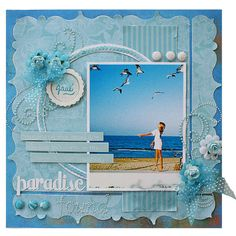 ideas about Beach Scrapbook Beach Scrapbook Layouts, Vacation Scrapbook, Wedding Scrapbook, Scrapbook Sketches, Scrapbook Paper Crafts, Scrapbooking Layouts, Scrapbook Cards, Scrapbook Photos, Scrapbook Supplies