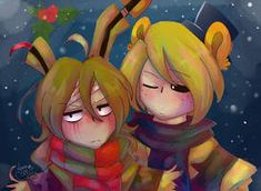 Read from the story → Imágenes de FNAF ← by Ghost-smile (‹ ❪☕❫ ॢ₎) with reads. Anime Fnaf, Anime Chibi, Springtrap Human, Fnaf Golden Freddy, Pole Bear, Wolf, Fnaf Sl, Fnaf Wallpapers, William Afton