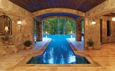 Grecian Style Pool built by Blue Haven Pools Charlotte.
