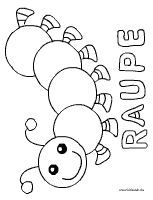 Raupe / Caterpillar coloring page Painting For Kids, Diy Painting, Art For Kids, Free Printable Coloring Pages, Coloring Pages For Kids, Applique Patterns, Quilt Patterns, Tractor Coloring Pages, Presents For Boys