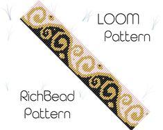 Seed bead bracelet patterns for beginners Loom cuff pattern Loom weaving Beginner beadwork Delica bracelet patterns Bead loom Beaded cuff - weaving patterns Loom Bracelet Patterns, Bead Loom Bracelets, Bead Loom Patterns, Beaded Jewelry Patterns, Weaving Patterns, Bead Jewelry, Bracelet Designs, Weaving Designs, Art Patterns