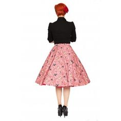 Peggy Coral Bird Swing Skirt | Vintage Inspired Fashion - Lindy Bop