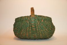 LATE 19TH C. PAINTED SOUTHERN RIBBED BASKET Sold $149.99 Ebay Oct 04, 2015
