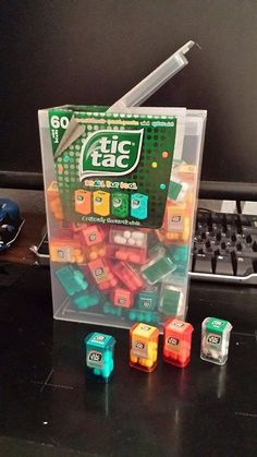 This is a great gift Idea, it is an official Giant Tic Tac Box with Mini Tic Tac boxes inside. Miniature Crafts, Miniature Food, Mini Craft, Tiny Food, Cool Inventions, Miniture Things, Cute Food, Cool Things To Buy, Awesome Things