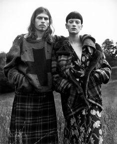 Grace Coddington en Vogue.  Grunge and glory. 1992