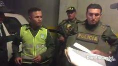 Dos policias fueron capturados por delito de concucion, Colombia