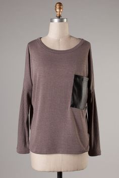 Big Pocket Top in Mocha #ShopMCE