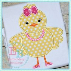 Girl Chick Shoes Applique