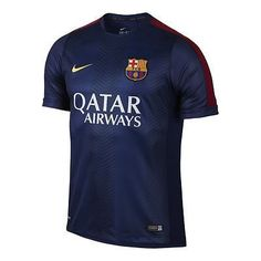 NIKE FC BARCELONA SQUAD PRE MATCH TOP FOOTBALL Loyal Blue Red 5a5a318184458