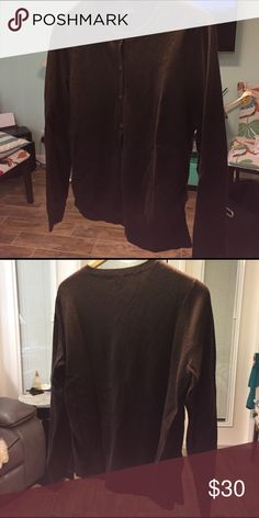 Prive 100% Cashmere Cardigan in Dark Brown Gorgeous and perfect like new sweater. Soft as silk. Sweaters Cardigans