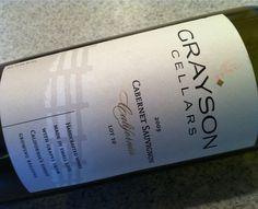 Grayson Cellars, Cabernet Sauvignon, Napa #BravoFrancoRistorante #BravoFranco #Ristorante #Restaurant #Italian #Pittsburgh #PA #Wine
