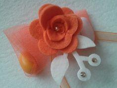 Portaconfetti in arancio e punti luce  www.facebook.com/IlMioPiccoloMondoFatato