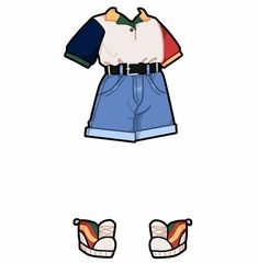 Ahh this outfit is soo cute! Drawing Anime Clothes, Manga Clothes, Anime Drawing Styles, Drawing Poses, Manga Drawing, Drawing Tips, Cute Anime Character, Character Outfits, Fashion Design Drawings