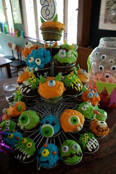 Tex's Monster Cupcakes