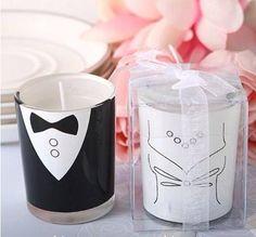 Un detalle increíble para decorar en tu despedida de soltera o boda son estas lindas velas de novio y novia  $299.00 www.almostqueens.com