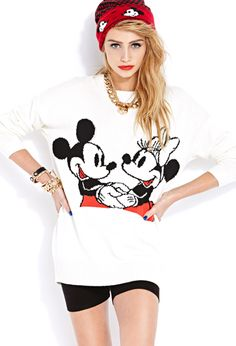 Smiling Mickey and Minnie Sweater | FOREVER21 The happiest mouse on earth #MickeyByF21 #SweaterWeather