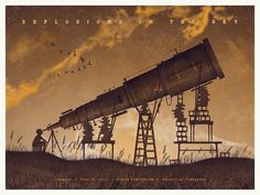 Explosions In The Sky by DKNG    #gigposter #explosionsinthesky #musicpocter