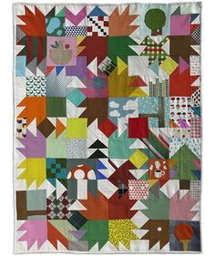 via Hi + Low: Another Klas Herbert creation: Quilt illustration for Parcs i Jardins, the Park Deparment of Barcelona City Council. Sewn by Wai Lin Tse. Agency Small. Barcelona, Spain 2009.