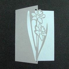Over the Edge Daffodils SVG on Craftsuprint designed by Judith Henry - Simple over the edge daffodils for a spring card. Use for any occasion such as Mother's Day or Thinking of you. Zip file contains my TOU and cutting file. - Now available for download!