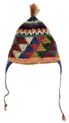 Peruvian Handknit Bobble Hats for Kids from Accha Alta, Center for Traditional Textiles Cusco - ClothRoads