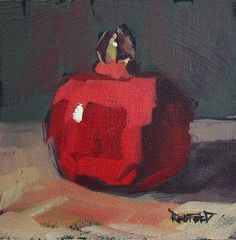cathleen rehfeld • Daily Painting: Pomegranate Up - sold