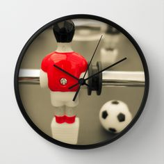 Leonhart Foosball Table Table Football 01A - Defender | Red - Wall Clock | #england #away #red ...
