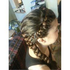 Braided headband and a French braid ♥ quick, easy hairstyle for church, parties, etc.