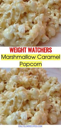 We all make popcorn. Even a novice could easily make them out of compulsion before watching a game or some movie. But here's a recipe to take popcorn to the next level. Marshmallow caramel popcorn are Healthy Snacks, Healthy Eating, Healthy Recipes, Delicious Recipes, Marshmallow Caramel Popcorn, Marshmallow Recipes, Flavored Popcorn, Ww Recipes, Cooking Recipes