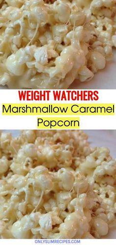 Marshmallow Caramel Popcorn // #weightwatchersrecipes #smartpointsrecipes #WeightWatchers #weight_watchers #Healthy #Skinny_food #recipes #smartpoints #Popcorn