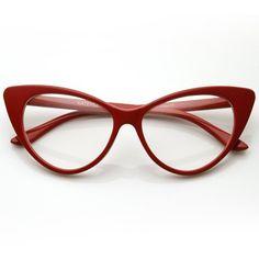 Super Cat Eye Glasses Vintage Inspired Mod Fashion Clear Lens Eyewear - List price: $30.00 Price: $5.49 + Free Shipping