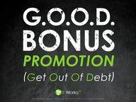 10,000 get out of debt bonus