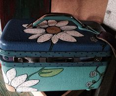 Hand painted makeup case ( vintage)
