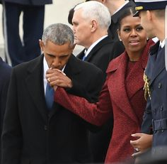 Black Love-President Barack Obama kisses the hand of his wife First Lady Michelle Obama