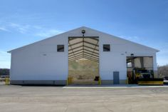PHOTOS: Indiana DOT Opens New Tension Fabric Building for Salt Storage | BetterRoads.com