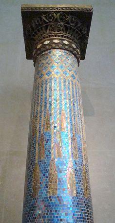 Louis Comfort Tiffany, Tiffany Studios Mosaic - plaster, glass, and iron - 1905